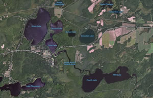 Moen Lake Chain satellite photo - Click to enlarge